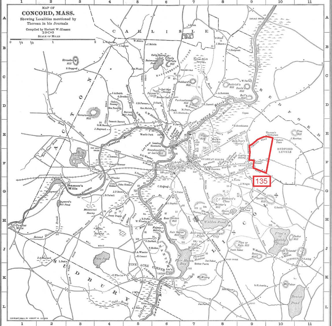 Thoreau's 1849 land Survey Quarter Acre Miscalculation