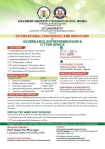 ICT University 2019 International Conference and Workshop
