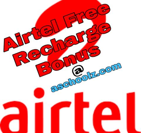 Airtel free recharge bonus