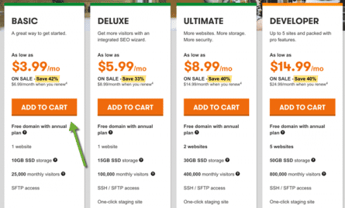 How To Purchase hosting with GoDaddy