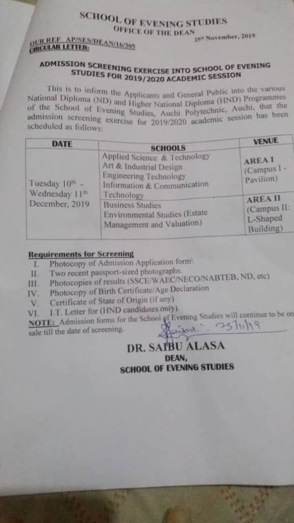 Auchipoly Spat screening 2019