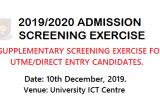 Osustech Supplementary Screening Date