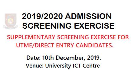 Oaustech Supplementary Screening Date