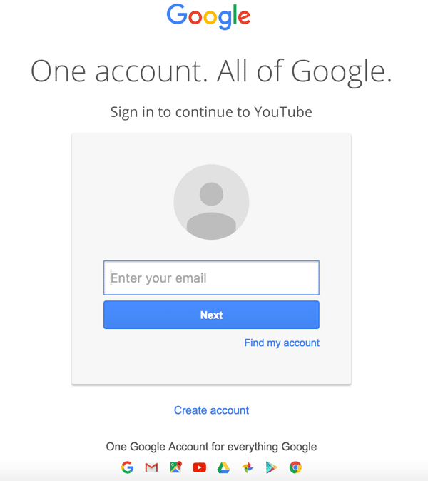 Log in to your Google Account
