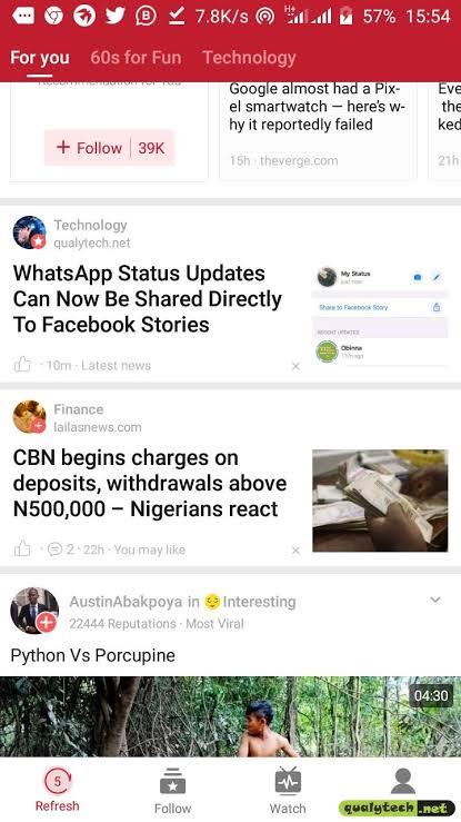How Does Opera Mini News Feeds Look Like