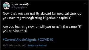 Rapper, Ruggedman Blasts Nigerian Politicians For Not Being Able To Fly Abroad For Treatment 2