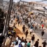 (Videos) Coronavirus lockdown: Mushin residents march towards Ilupeju to take on One million boys (videos) 1