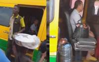 (Watch video) Coronavirus: Ghanaians flees as Chinese men enters their Bus (video) 2