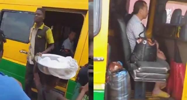 (Watch video) Coronavirus: Ghanaians flees as Chinese men enters their Bus (video) 1