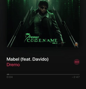 "Dremo – ""Mabel"" ft. Davido"