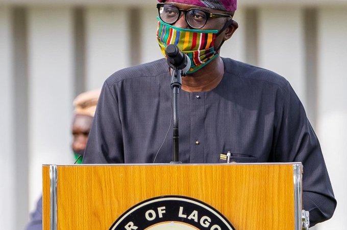 Moments Gov. Babajide Sanwo-Olu rocked locally made facemasks (Photos)