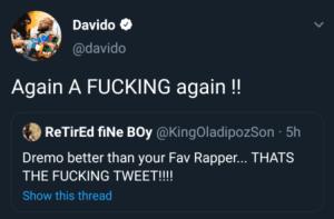 Rapper Ycee & Davido Fight Dirty On Social Media 1