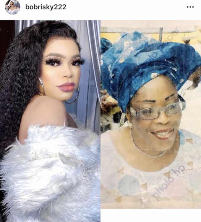 Bobrisky remembers how his mum died 12 years ago in Mecca (Photo)