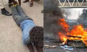 Mad man set ablaze for killing five siblings in Ogun State