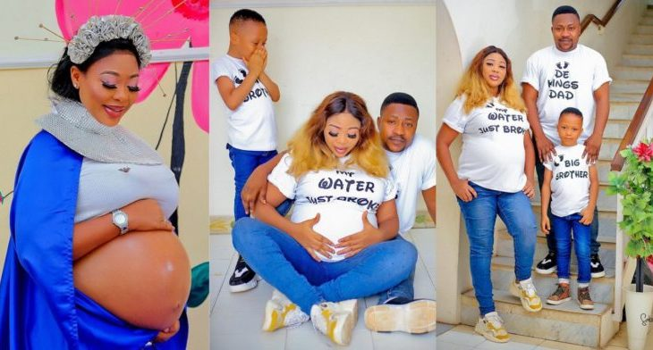 Actress Wunmi Ajiboye and actor Segun Ogungbe welcome new baby on their son's birthday