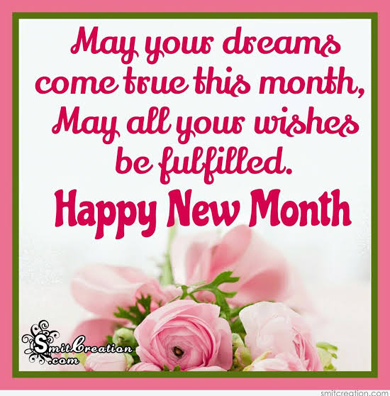 New Month Messages and SMS