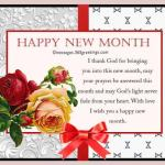 New Month Wishes and SMS