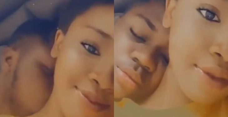 He started crying when I told him I was leaving -Lady shares video of her boyfriend in hot tears 1
