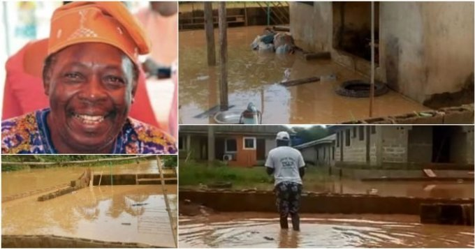 Funke Akindele gifts Pa James new house after losing his home to flood (PICS) 3