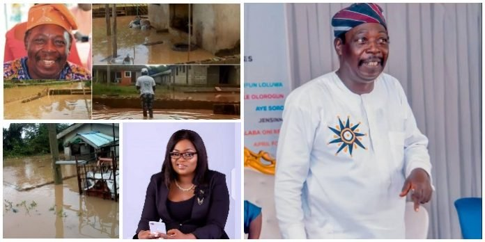 Funke Akindele gifts Pa James new house after losing his home to flood (PICS) 1