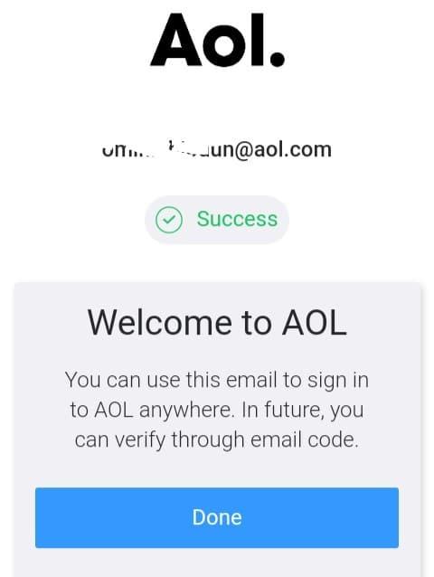 AOL mail inbox