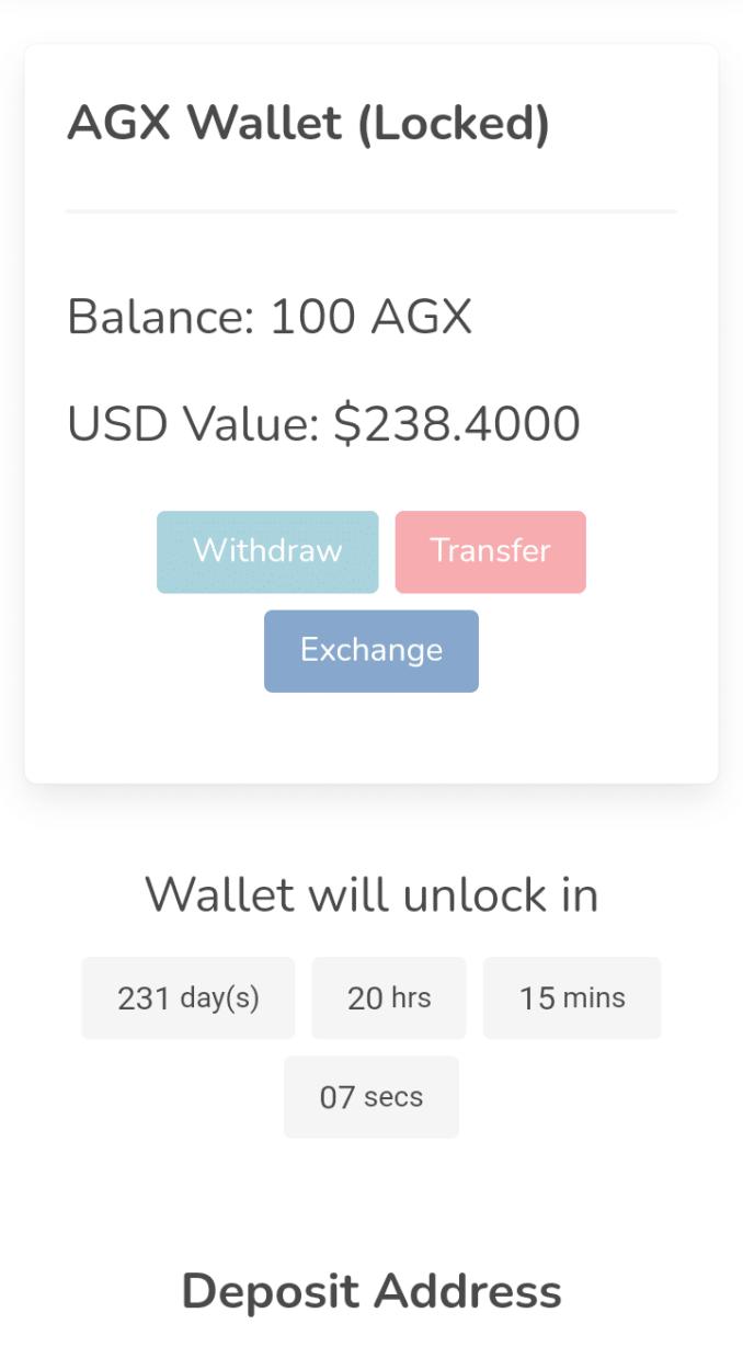 Agricnode Wallet