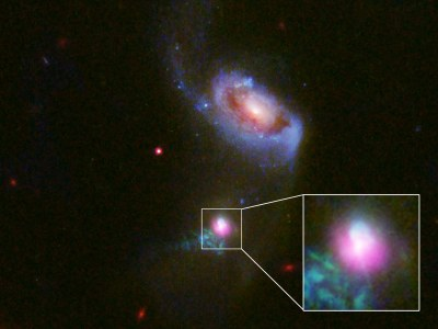 Supermassive black hole burp