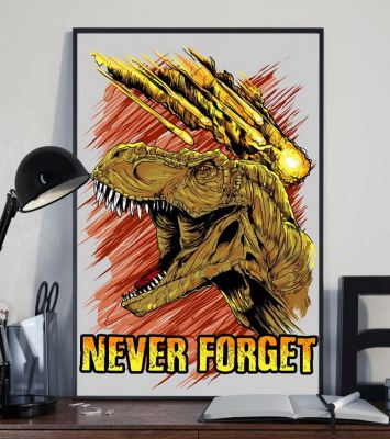 t-rex never forget print poster