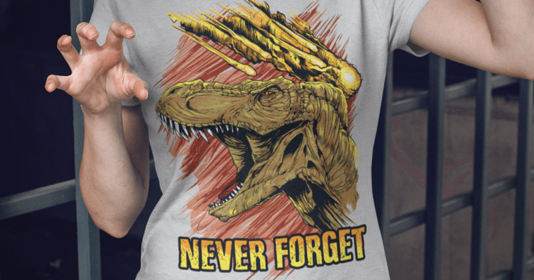 t-rex never forget shirt cover