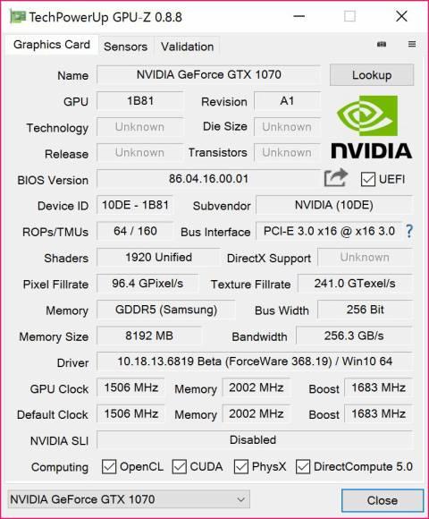 ASCII.jp:性能はGTX980Tiに匹敵? Pascalベースの準ハイエンド「GeForce GTX 1070