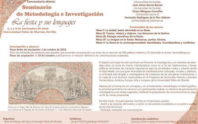 SEMINARIO DE METODOLOGÍA E INVESTIGACIÓN LA FIESTA Y SUS LENGUAJES