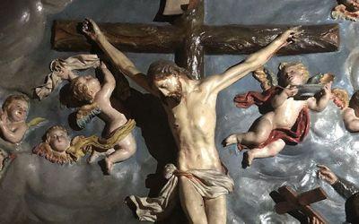 CRUCIFICADO Y SANTOS JESUITAS, POSIBLE OBRA DE LA ROLDANA