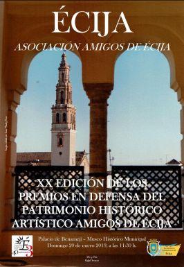 CARTEL AMIGOS DE ECIJA patrimonio