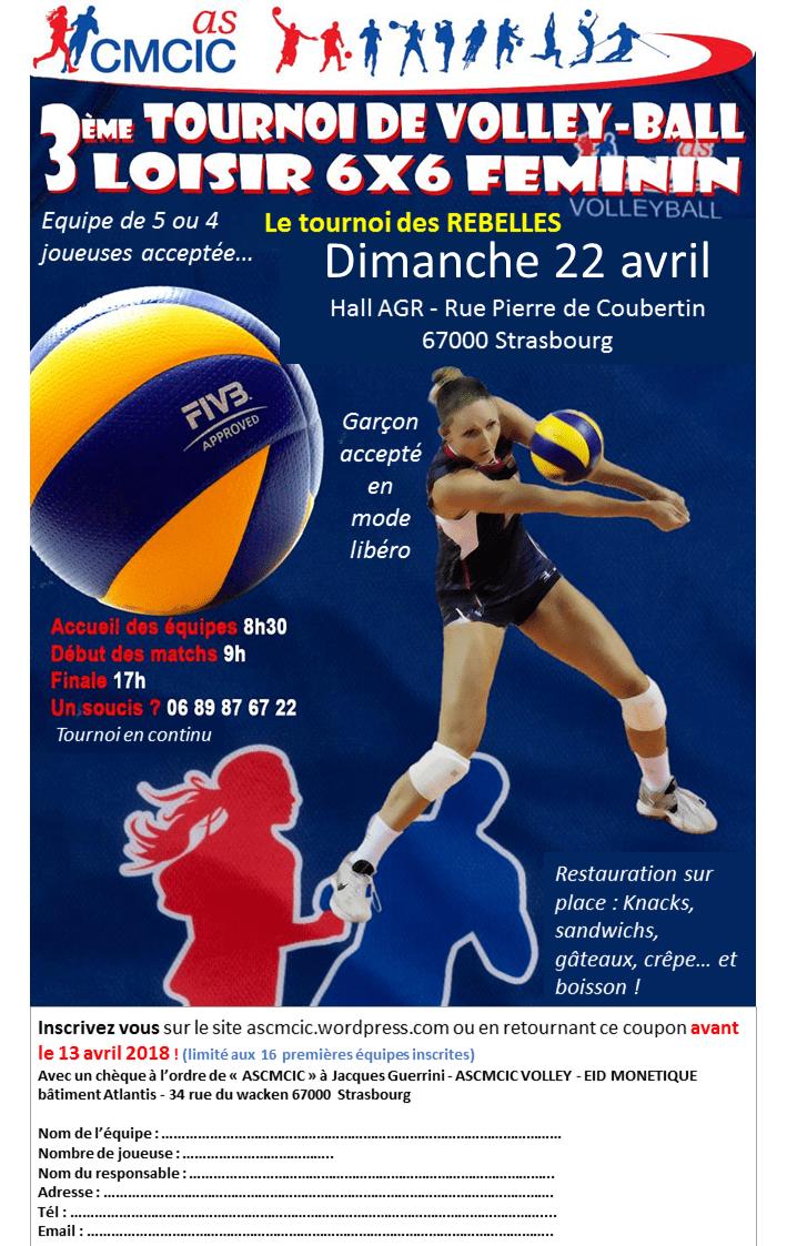 Affiche tournoi féminin 22 avril 2018
