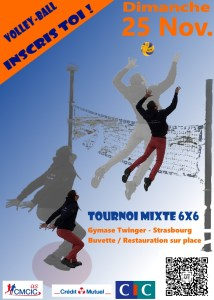 Affiche volley tournoi mixte 2018