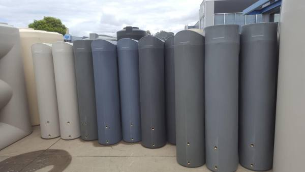 A range of colours offered in the 1000 litre slimline water tanks by ASC Water Tanks