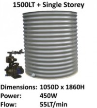 aquaplate 1500lt round single storey