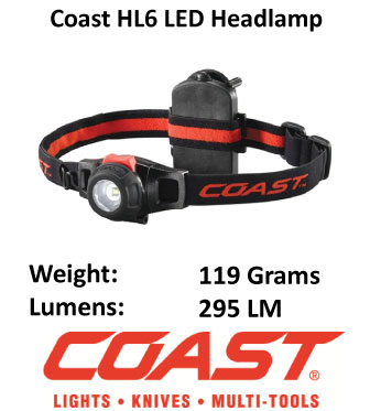 Wide Angle Headlamp - Coast Dimensions