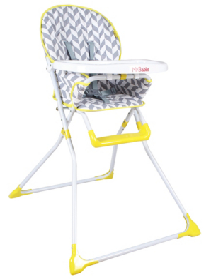 baby high chairs asda chair hunting blind my babiie grey herringbone compact highchair | george