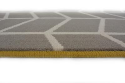 Homemaker Grey Bordered Chevron Rug