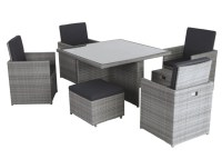 Borneo 9 Piece Cube Dining Set | Home & Garden | George at ...