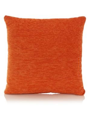 George Home Orange Chenille Cushion 40x40cm