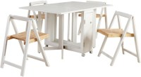 George Home Folding Compact Dining Table and 4 Chairs ...