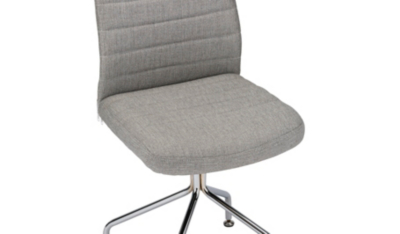 grey material office chair phone stand george home fabric garden at asda