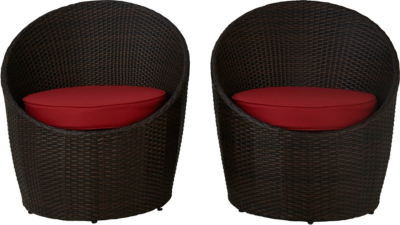 Rattan Egg Chair Set Jakarta Pair Of Egg Chairs Red