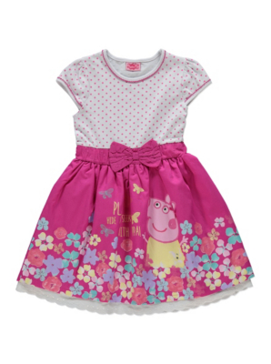 Peppa Pig Dotty Floral Dress Kids George At ASDA