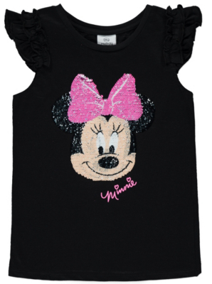 Disney Minnie Mouse Sequin Tshirt  Kids  George at ASDA