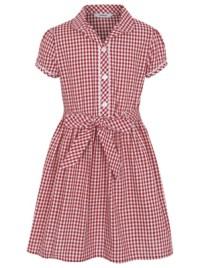 Girls School Gingham Dress  Red | School | George at ASDA