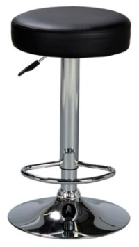 George Home Round Bar Stool - Black | Home & Garden ...