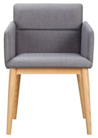 George Home Retro Upholstered Chair - Grey | Home & Garden ...